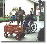 Founder Gordon Westover with his father, the inspiration behind Wagon Master Coaster, Sacramento