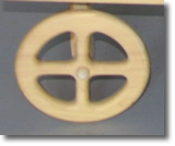 Small Maple Four Spoke Wheels for your wagon from Wagon Master Coaster, Sacramento